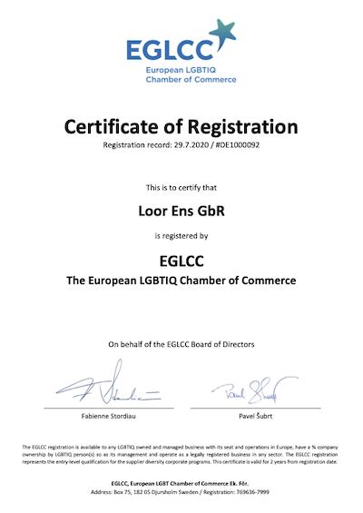 EGLCC Zertifikat