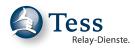 Logo Tess - Sign & Script - Relay-Dienste für hörgeschädigte Menschen GmbH